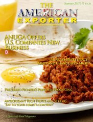 Summer 2011 - US Food and Agricultural Exporter Magazine