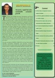 REMA Newsletter N° 006 July 2012.