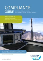 Compliance Guide [1.75 MB PDF] - Radio Spectrum Management
