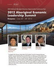2012 Aboriginal Economic Leadership Summit - 2ggroup.ca
