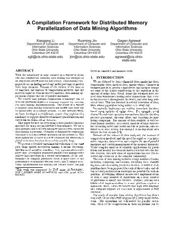 A Compilation Framework for Distributed Memory Parallelization of ...