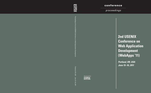 2nd USENIX Conference on Web Application Development ...