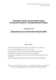 Evaluation report: Environmental Impact Assessment Study for The ...
