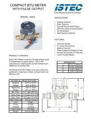 COMPACT BTU METER - Meter, Valve and Control