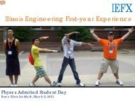 Illinois Engineering First-year Experience