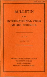 Apr 1979 - International Council for Traditional Music