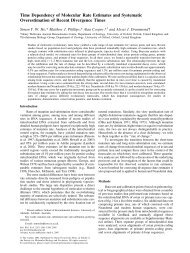 Time Dependency of Molecular Rate Estimates and Systematic ...