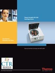Thermo Scientific IEC CL30 Centrifuge Series ... - CTR Scientific