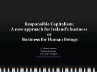 Responsible Capitalism: A new approach for Ireland's business or ...