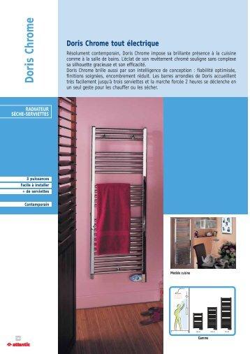 Doris Chrome tout électrique - Vente Chauffage Electrique