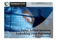 Value Added Services Unlocking your Potential - BIG event