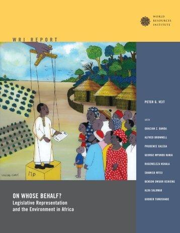 ON WHOSE BEHALF? - World Resources Institute