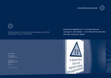 Flyer Explosionsschutz - Uhthoff & Zarniko