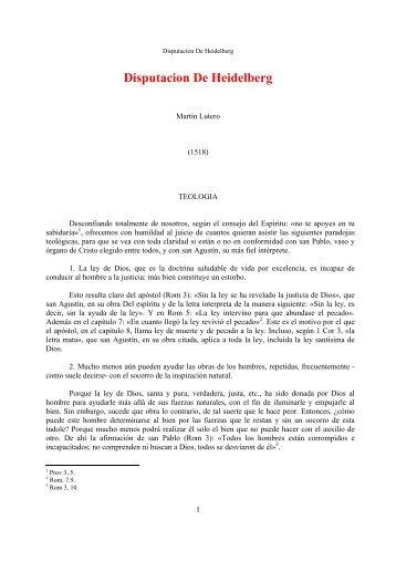 Disputacion De Heidelberg - Escritura y Verdad