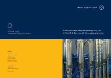 UZ Flyer SJ Unterwasserpumpen - Uhthoff & Zarniko