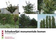 Schaduwlijst monumentale bomen Amsterdam Zuidoost - Stadsdeel ...