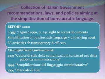 SIMPLIFICATION OF BUREAUCRATIC LANGUAGE IN ... - e-SPICES