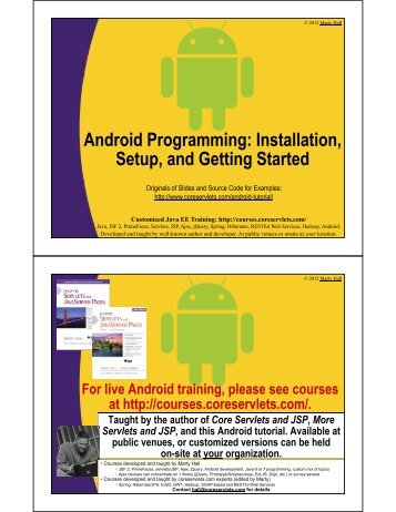 Android Programming: Installation, Setup, and Getting Started