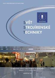 Svět strojírenské techniky číslo 4/2007 (PDF, 4.13 MB) - Svaz ...