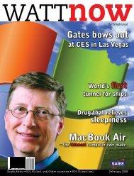South Africa • R21.95 (incl. vat) - Watt Now Magazine