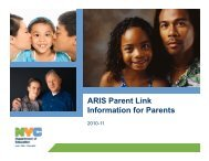 ARIS Parent Link Information for Parents - Harvard Family Research ...