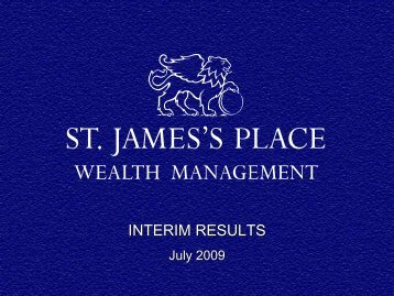 INTERIM RESULTS - St James's Place