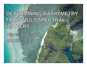 Bathymetry from Imagery - Schramek