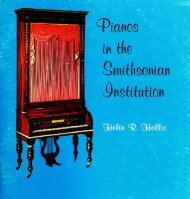 Pianos in tde Switdsonian institution - Smithsonian Institution Libraries