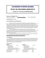 fnh 325 / 326 food science laboratory i/ii - courses.landfood....
