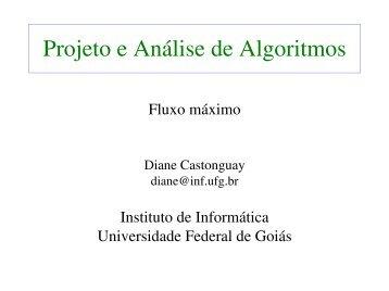 Fluxo máximo - Instituto de Informática - UFG