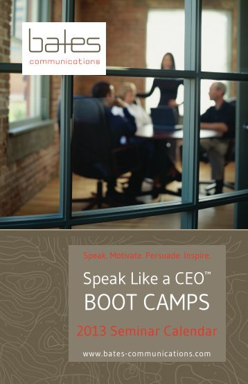 BOOT CAMPS - Bates Communications