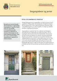 Dører og porter - Byantikvaren