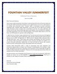FOUNTAIN VALLEY SUMMERFEST - City of Fountain Valley - Page 2