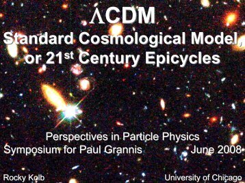 A Standard cosmological model or 21st-centry epicycles?