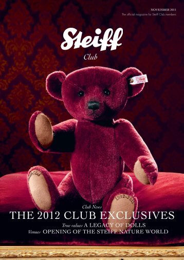 THE 2012 CLUB EXCLUSIVES - Steiff