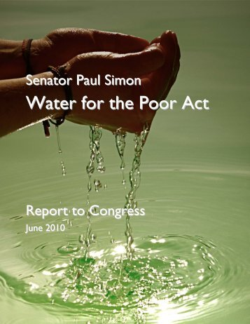 Water for the Poor Act - Environmental Health at USAID