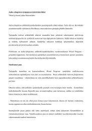 Aalto-yliopiston työpajassa kääritään hihat Teksti ja ... - Asuntomessut