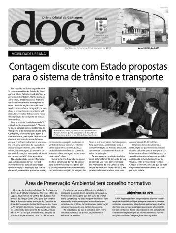 Diário Oficial Nº 2483 - Prefeitura de Contagem