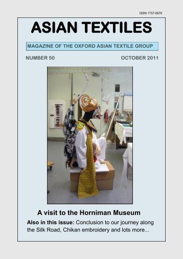 ASIAN TEXTILES - OATG. Oxford Asian Textile Group