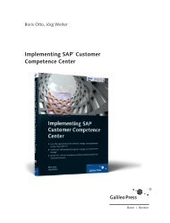 Implementing SAP Customer Competence Center - SAP-Hefte