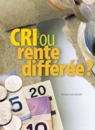 CRI ou rente différée - Conseiller