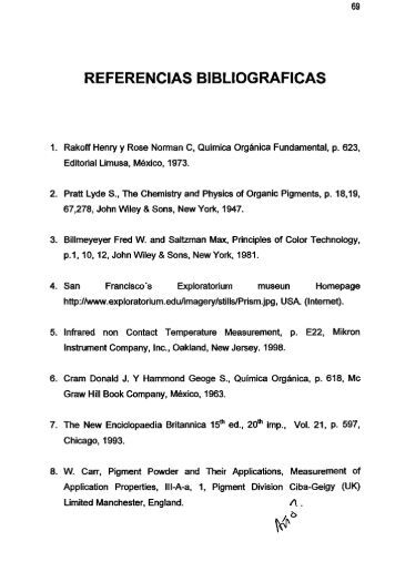 Referencias bibliograficas. - Lista de tablas. - CDIGITAL