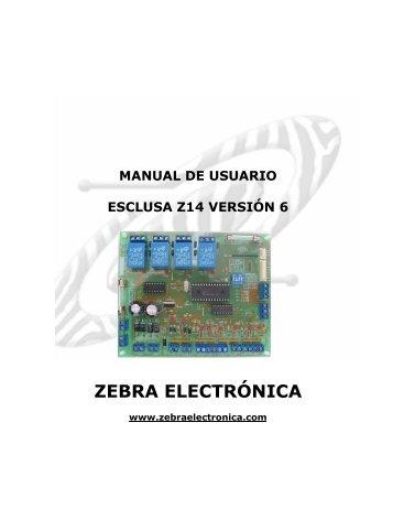 MANUAL ESCLUSA V6.pdf - Zebra Electronica