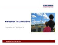 About Huntsman Textile Effects