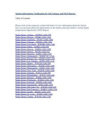 KMKI-AM EEO Report 2013 April 1, 2012 – March 31 ... - Radio Disney