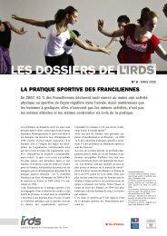 Dossier n°6 : La pratique sportive des Franciliennes - IRDS