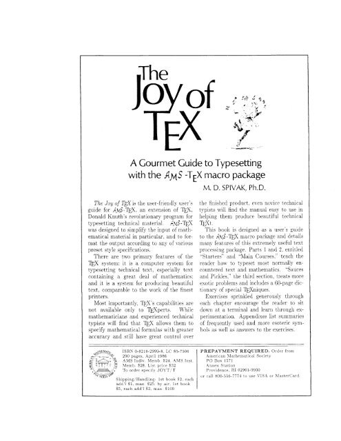 A Gourmet Guide to Typesetting...