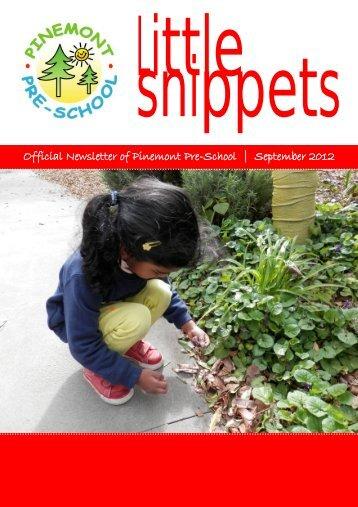 Official Newsletter of Pinemont Pre-School | September 2012