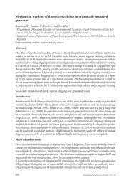 Mechanical weeding of Rumex obtusifolius in organically managed ...