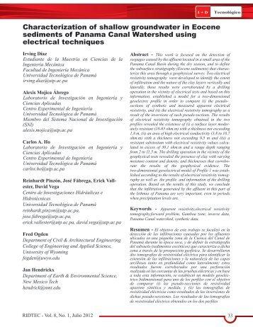I+D Tecnológico D-1 - Universidad Tecnológica de Panamá